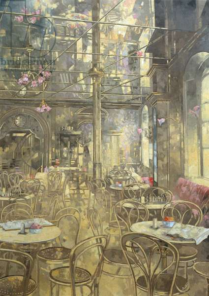 The Vienna Cafe, Oxford Street (oil on canvas)