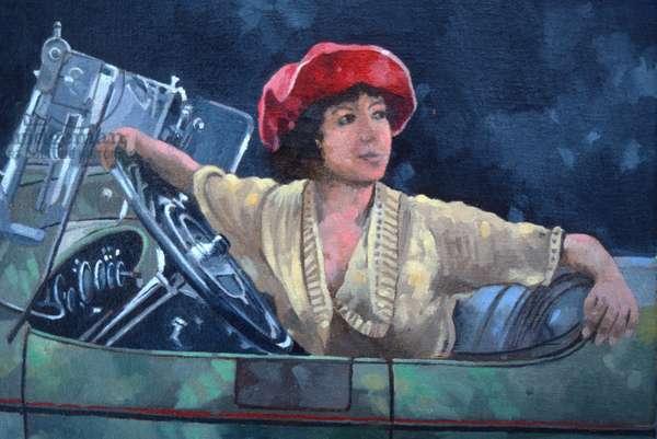 Olive Thomas (oil on canvas)