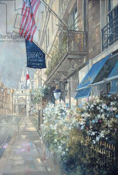 Flemings Hotel, Half Moon Street, London (oil on canvas)