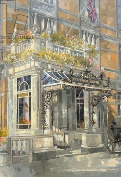 The Connaught Hotel, London (oil on canvas)