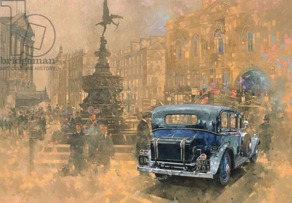 Phantom in Piccadilly (oil on canvas)