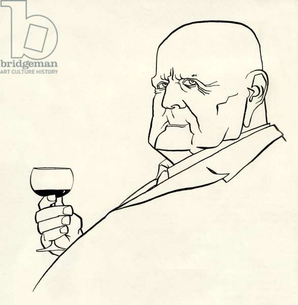 Jean Sibelius as an old man by John Minnion, Finnish Composer, 1865-1957
