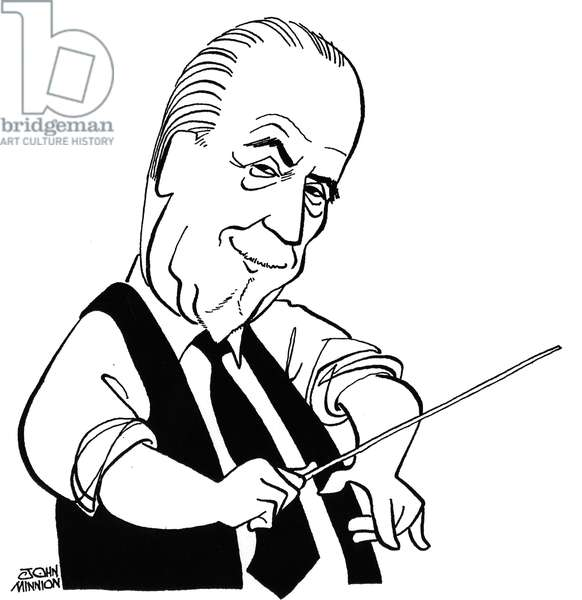 Thomas Beecham -  caricature by John Minnion