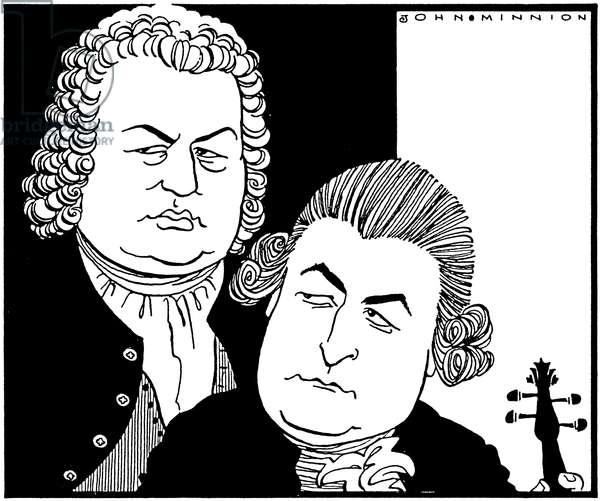 Johann Sebastian Bach and Johann Christian - by John Minnion J S BACH - German composer & organist, 1685-1750