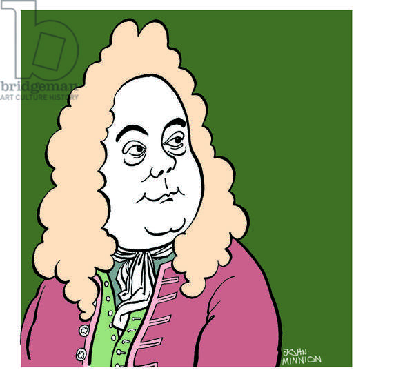 Georg Friedrich - George Frideric Handel - caricature of the German (later English) composer   John Minnion