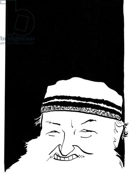 Terry Riley, caricature by John Minnion American compose