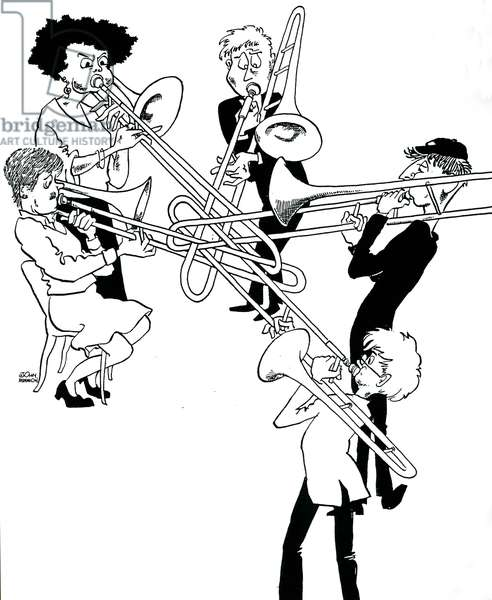 Trombone section by John Minnion