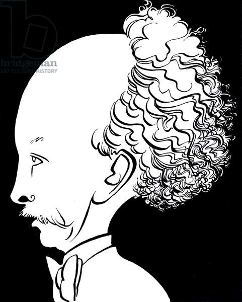Richard Strauss, caricature by John Minnion