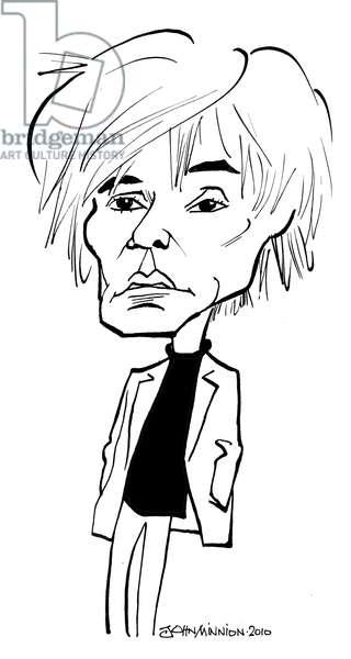 Andy Warhol (Andrew Warhola) caricature by John Minnion