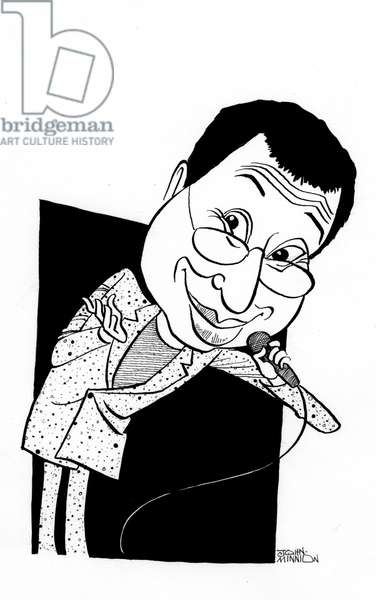 Ben Elton caricature, English comedian, writer and director: b