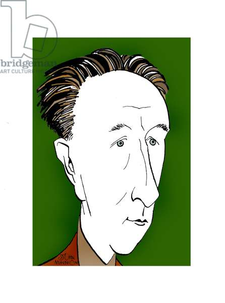 Bohuslav Martinu - caricature by John Minnion Czech composer, 1890-1959