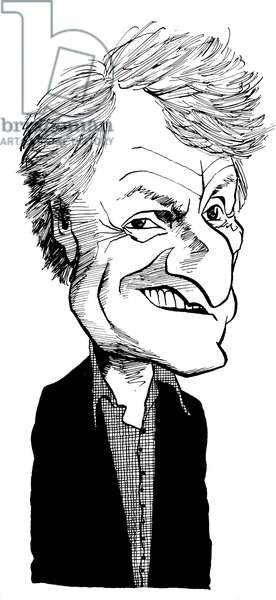 Iannis Xenakis -caricature by John Minnion Greek composer