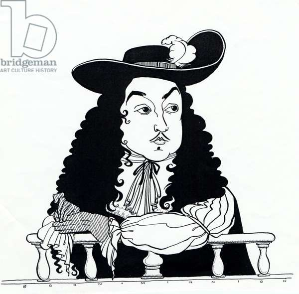 Matthew Locke, caricature by John Minnion