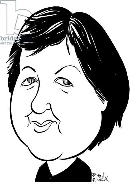 Judith Weir - caricature by John Minnion - Scottish composer - b