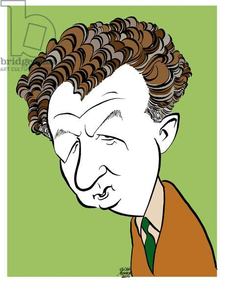 Benjamin Britten - caricature by John Minnion