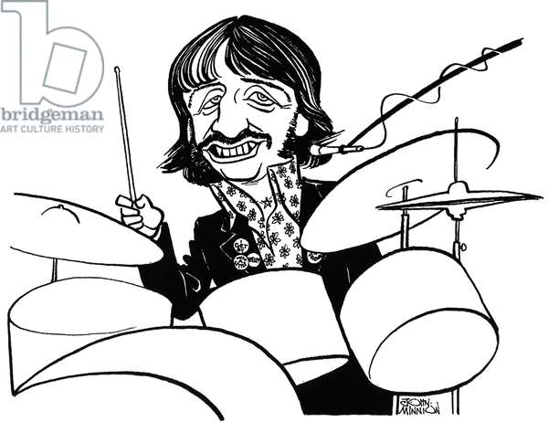 Ringo Starr -   caricature by John Minnion
