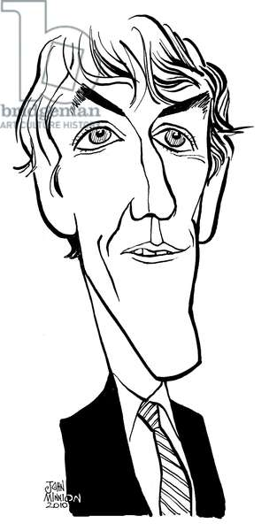 Peter Cook - caricature by John Minnion