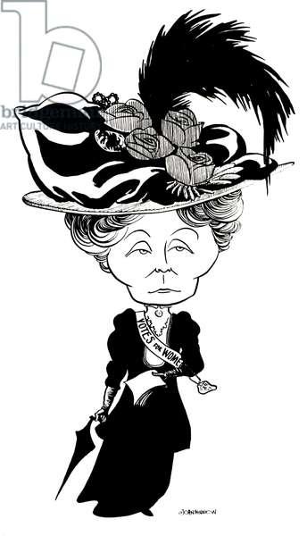 PANKHURST, Emmeline -portrait Suffragette