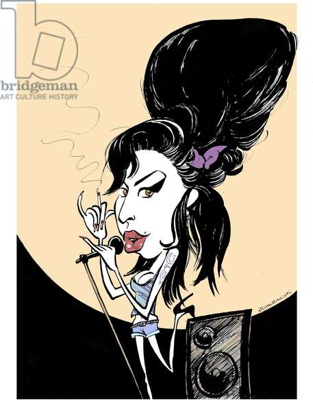 Amy Winehouse caricature by John Minnion