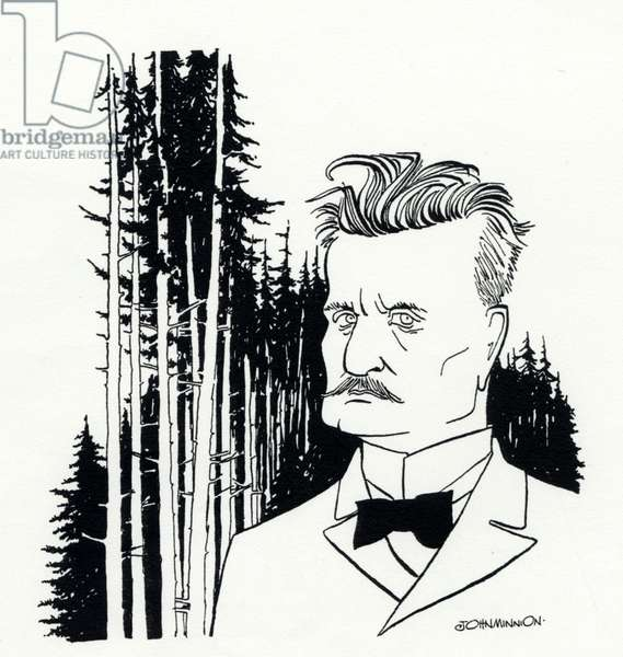 Jean Sibelius as a young man by John Minnion, Finnish Composer, 1865-1957