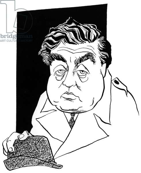 Tony Hancock, caricature by John Minnion