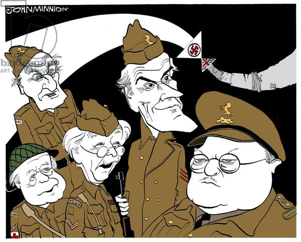 Dad's Army - caricature by John Minnion