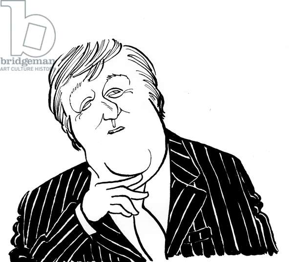 Stephen Fry - caricature by John Minnion