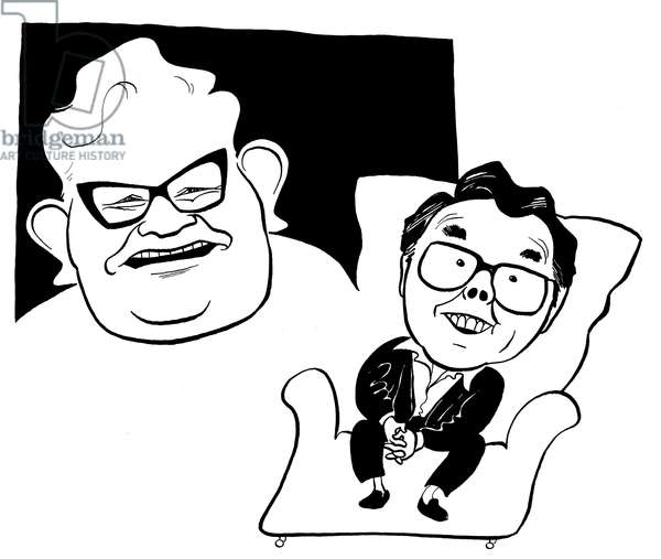 The Two Ronnies - caricature by John Minnion