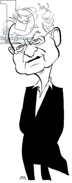 Simon Schama - caricature by John Minnion