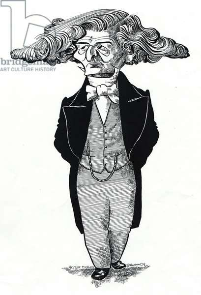 Hector Berlioz caricatured by John Minnion
