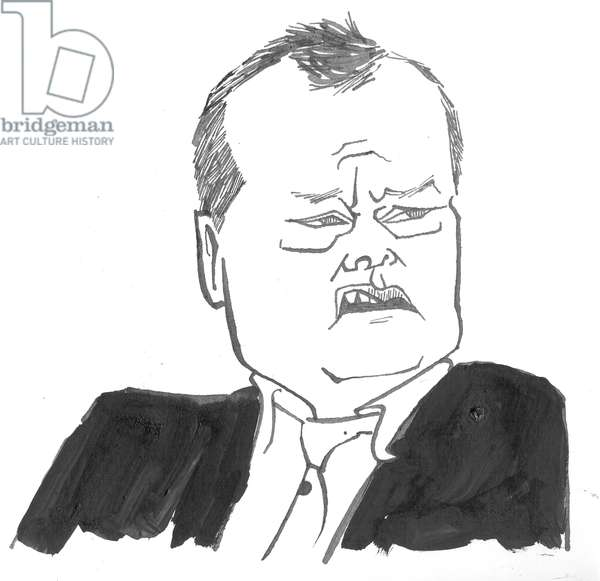 Jack Dee - caricature by John Minnion
