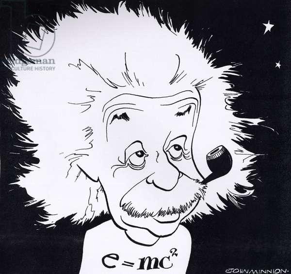 Albert Einstein, caricature