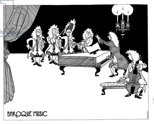 Baroque Music - caricature by John Minnion