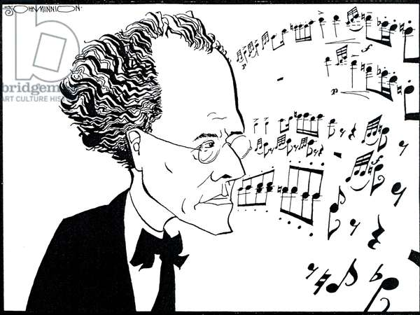 Gustav MAHLER 'S caricature by John Minnion Austrian composer (1860-1911)