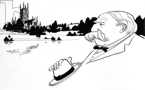 Edward Elgar - caricature by John Minnion - British composer - 2 June 1857 - 23 February 1934