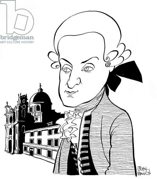 Leopold Mozart in Salzburg - by  Minnion