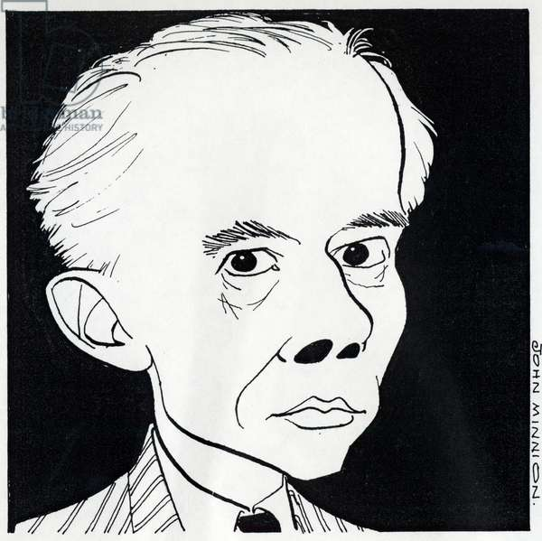 Bela Bartok - head and shoulders caricature