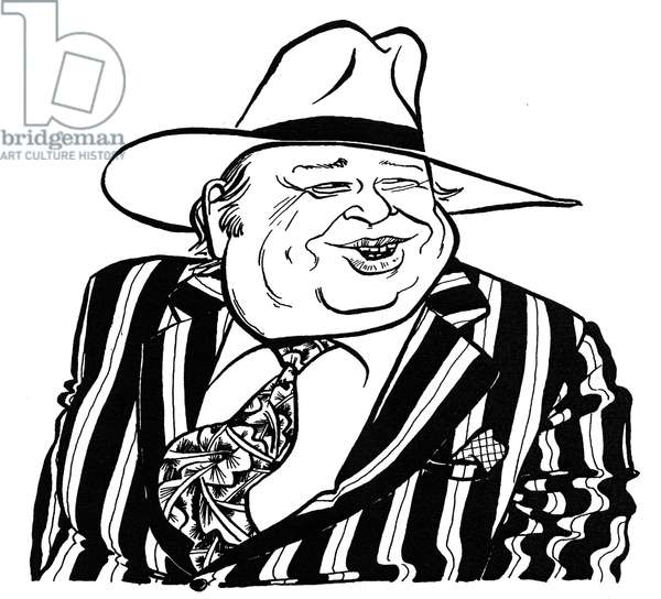 George Melly caricature by John Minnion