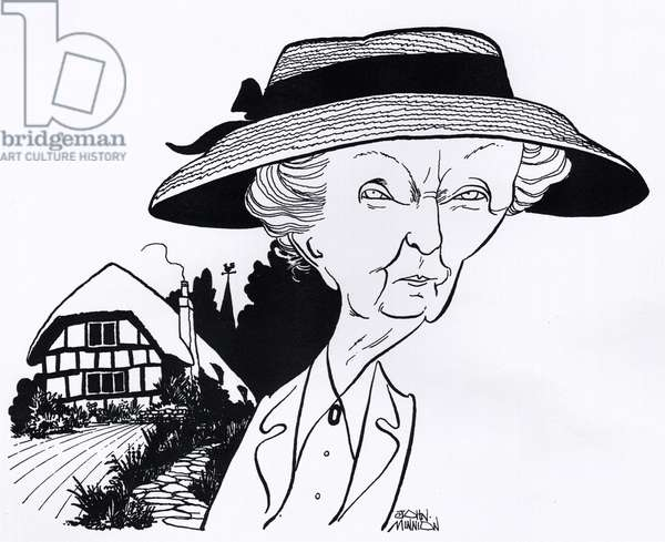 Agatha Christie 's Miss Marple played by Joan Hickson, caricature