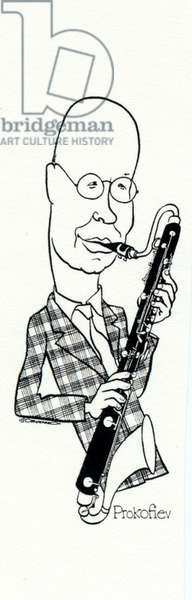Prokofiev playing the bass clarinet by John Minnion