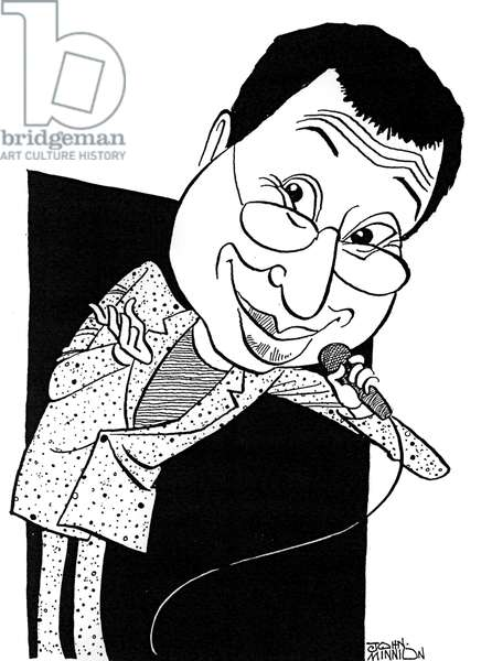 Ben Elton, caricature by John Minnion
