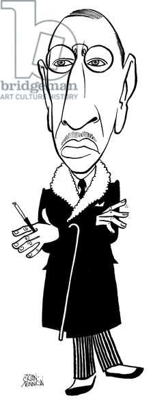 Igor Stravinsky, caricature
