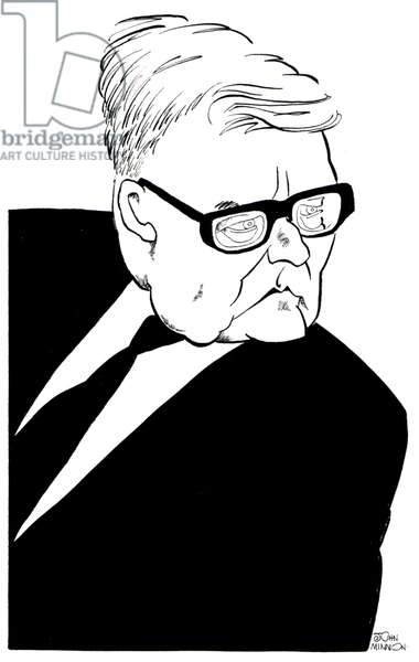 Caricature of Shostakovich by John Minnion