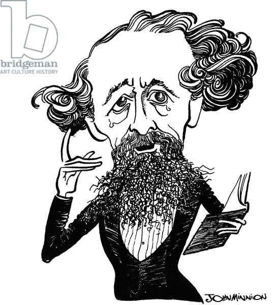 Charles Dickens -  caricature by John Minnion