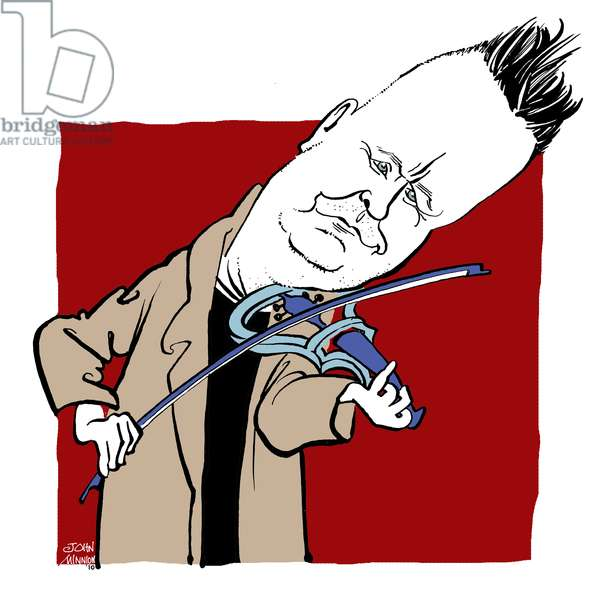 Nigel Kennedy - caricature by John Minnion