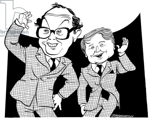 Morcambe and Wise - caricature by John Minnion
