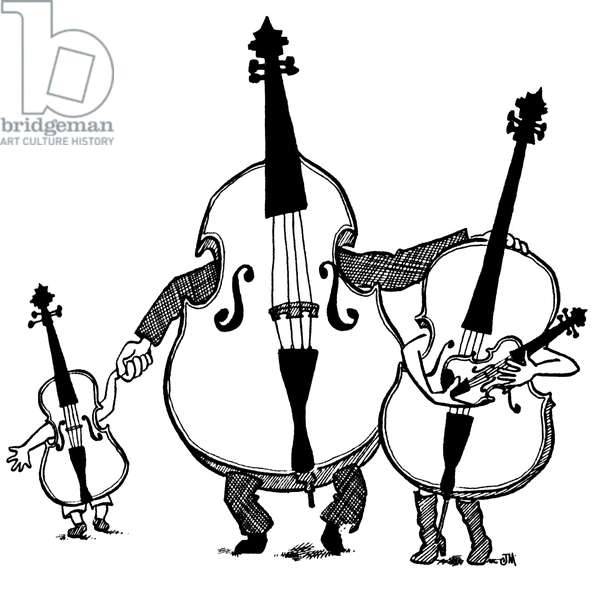 A family of violins Cartoons