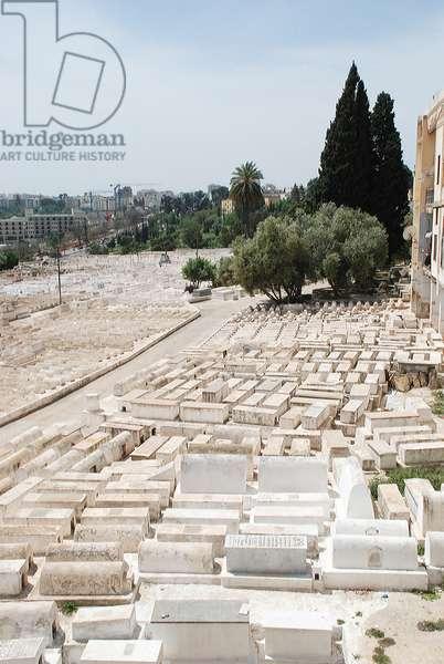 Jewish cemetery, Mellah, Fes. Morocco.