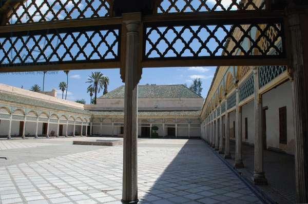 Courtyard, Bahia Palace, Marrakesh, Morocco