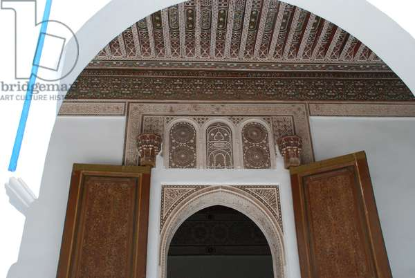 Bahia Palace, Marrakesh, Morocco. Built in the 19th century. Islamic/Moroccan style architecture